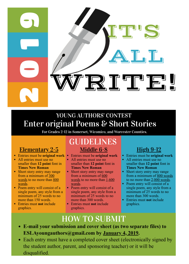 Young Authors' Contest kicks off | Eastern Shore Literacy